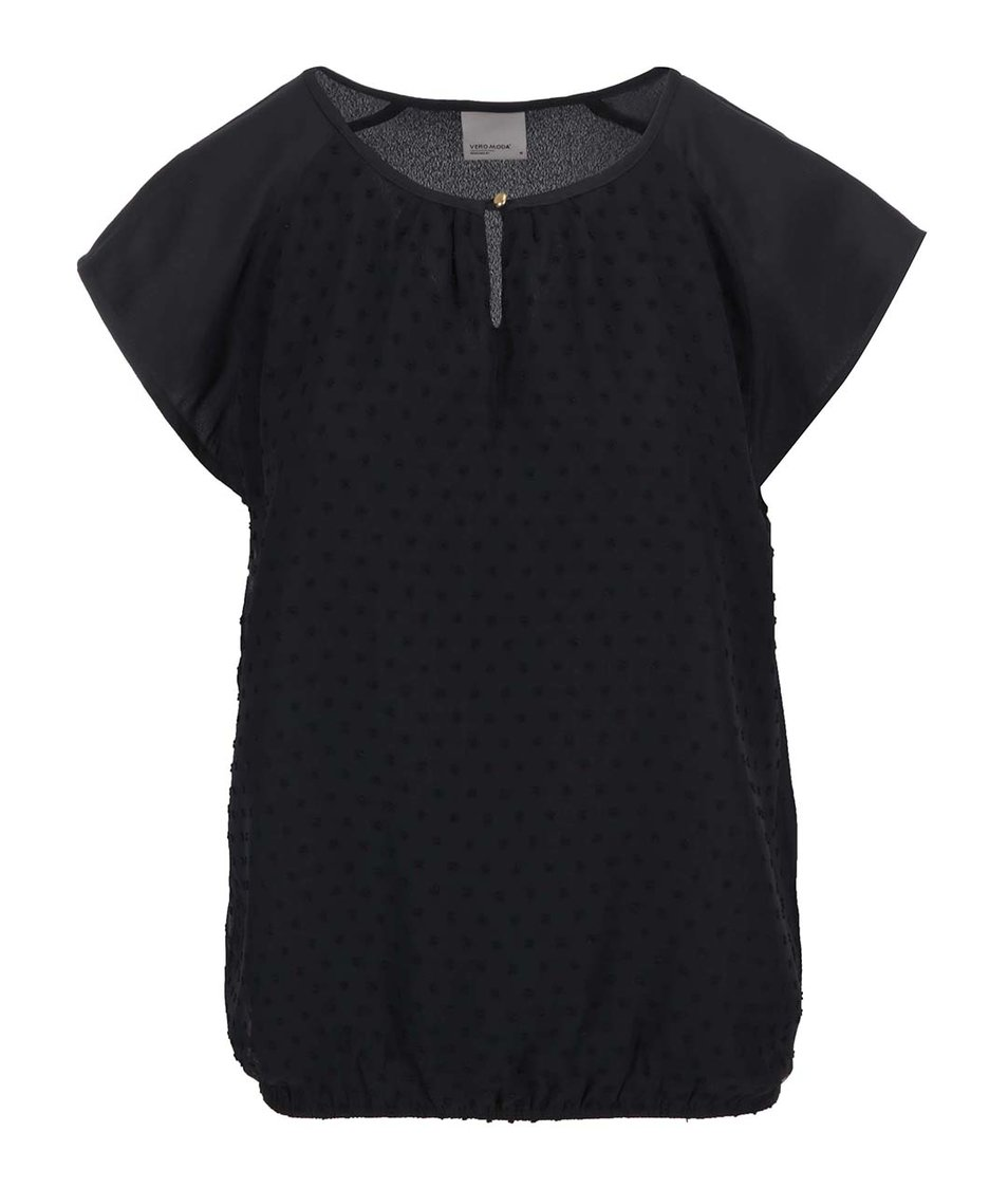 Černý volnější top Vero Moda Dorisa