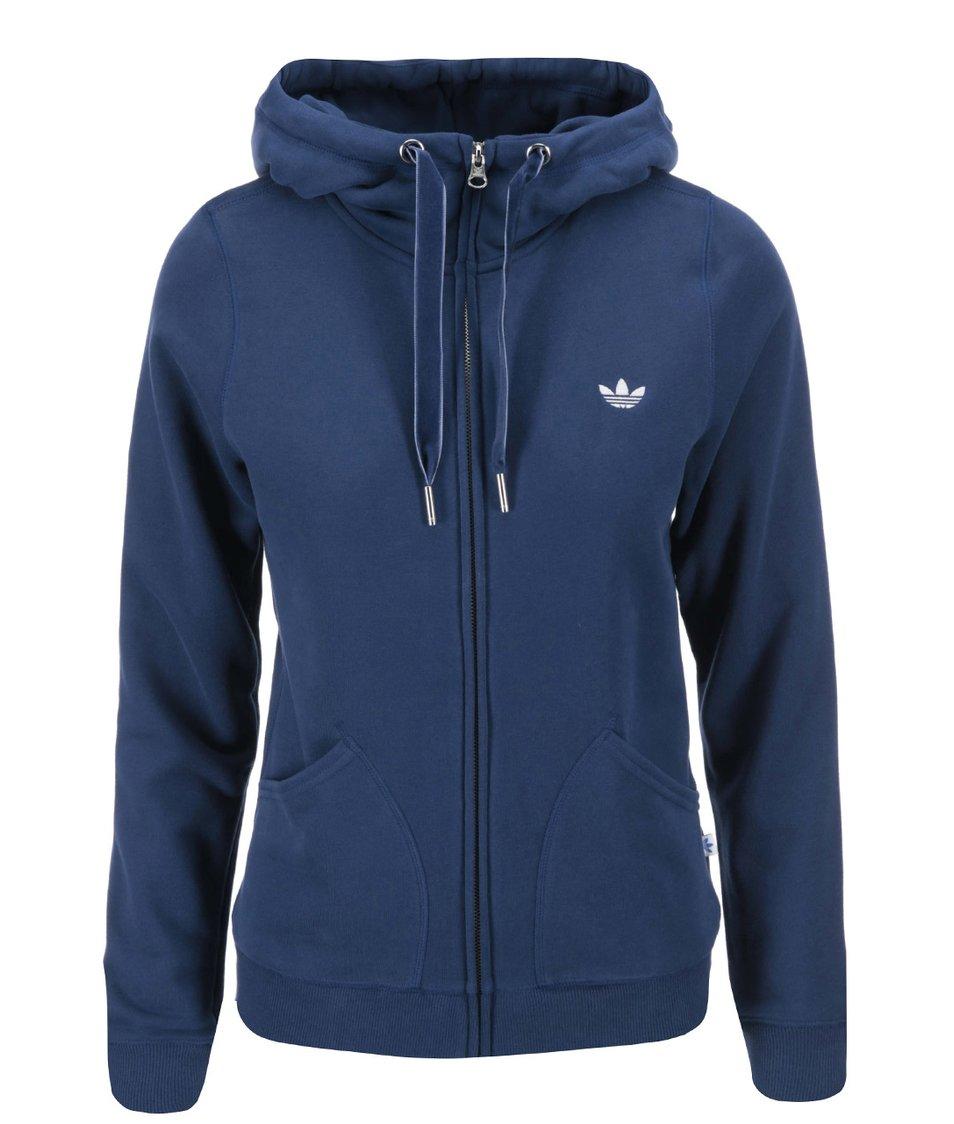 Modrá dámská mikina s kapucí adidas Originals Paris