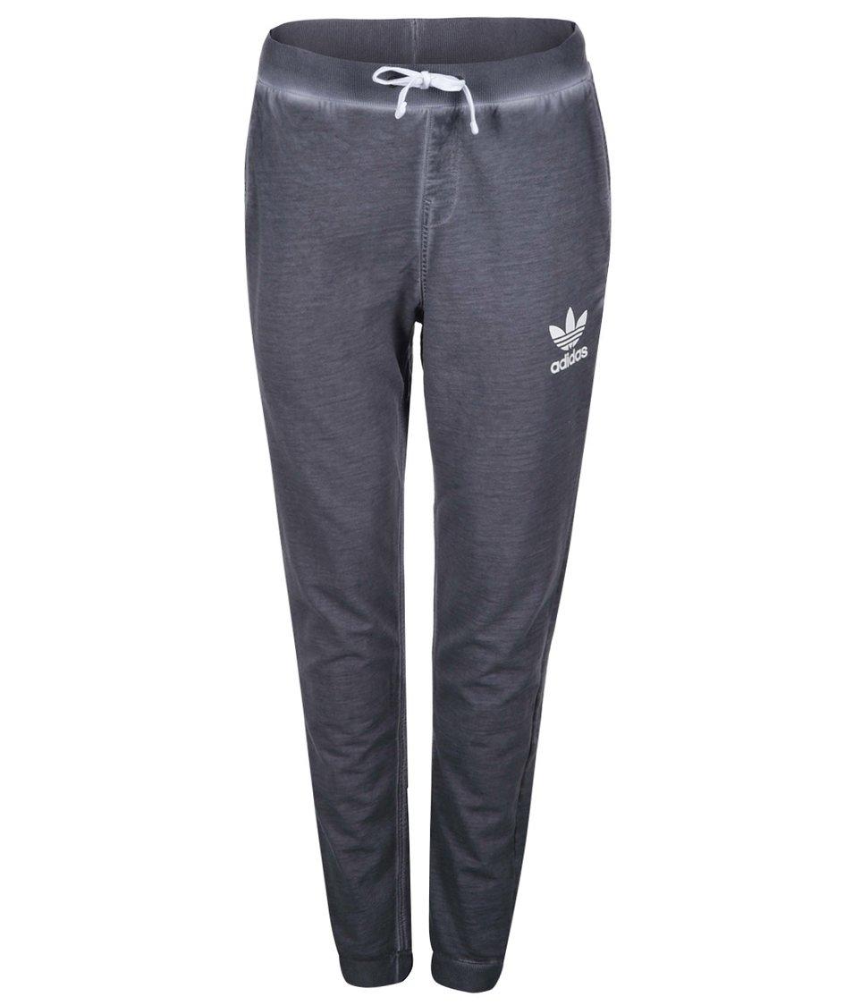 Tmavě šedé dámské tepláky adidas Originals
