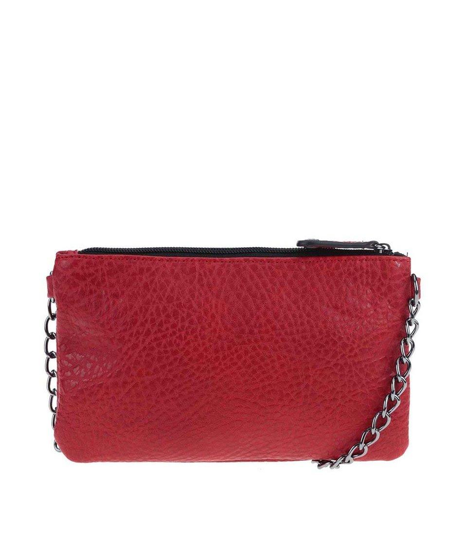 Červená menší kabelka přes rameno Pieces Roma