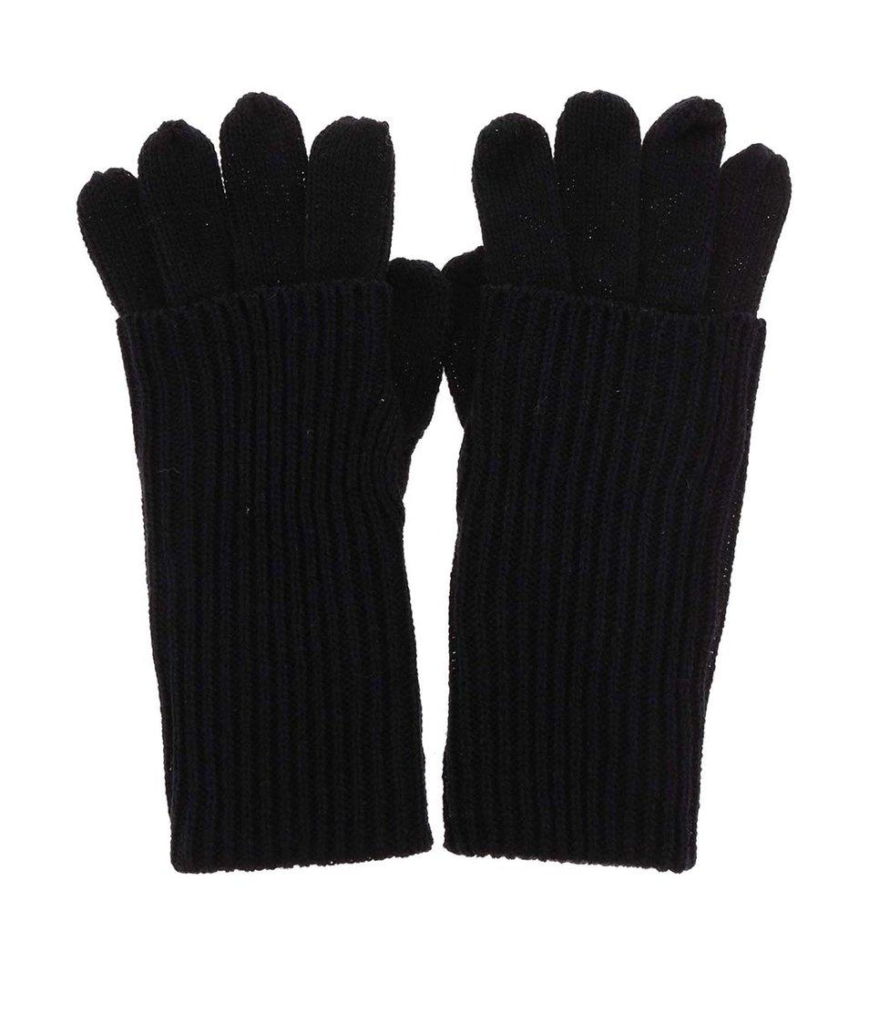 Černé rukavice ONLY Ossi