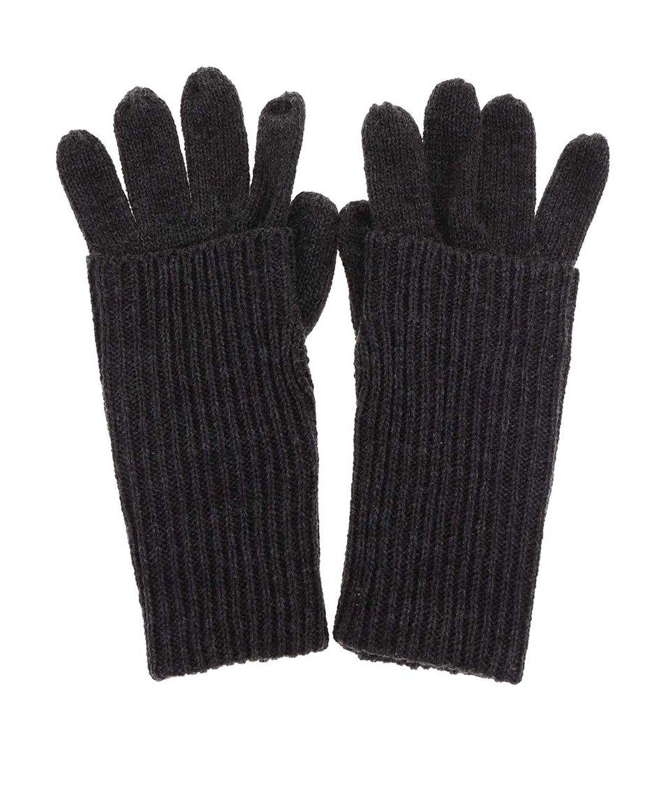 Tmavě šedé rukavice ONLY Ossi