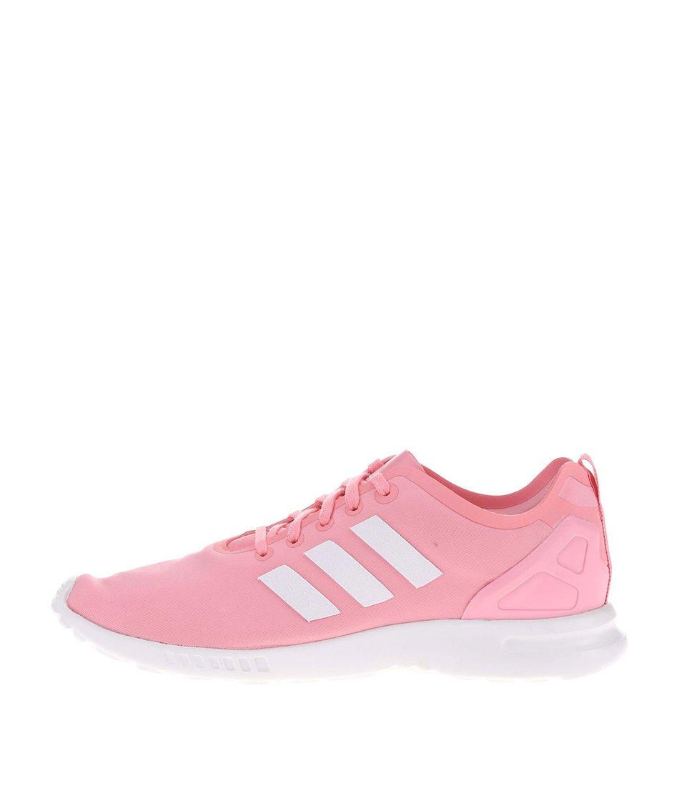 Růžové dámské tenisky adidas Originals ZX Flux