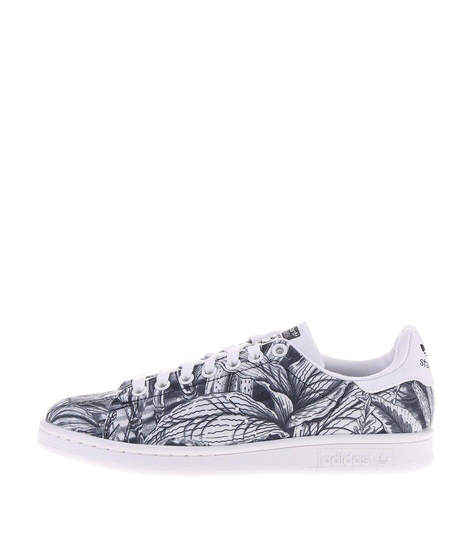 Bílo-šedé dámské tenisky adidas Originals Stan Smith