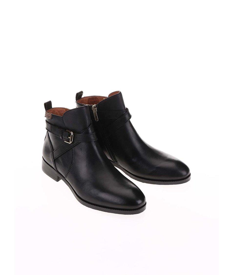 Černé kožené kotníkové boty Pikolinos
