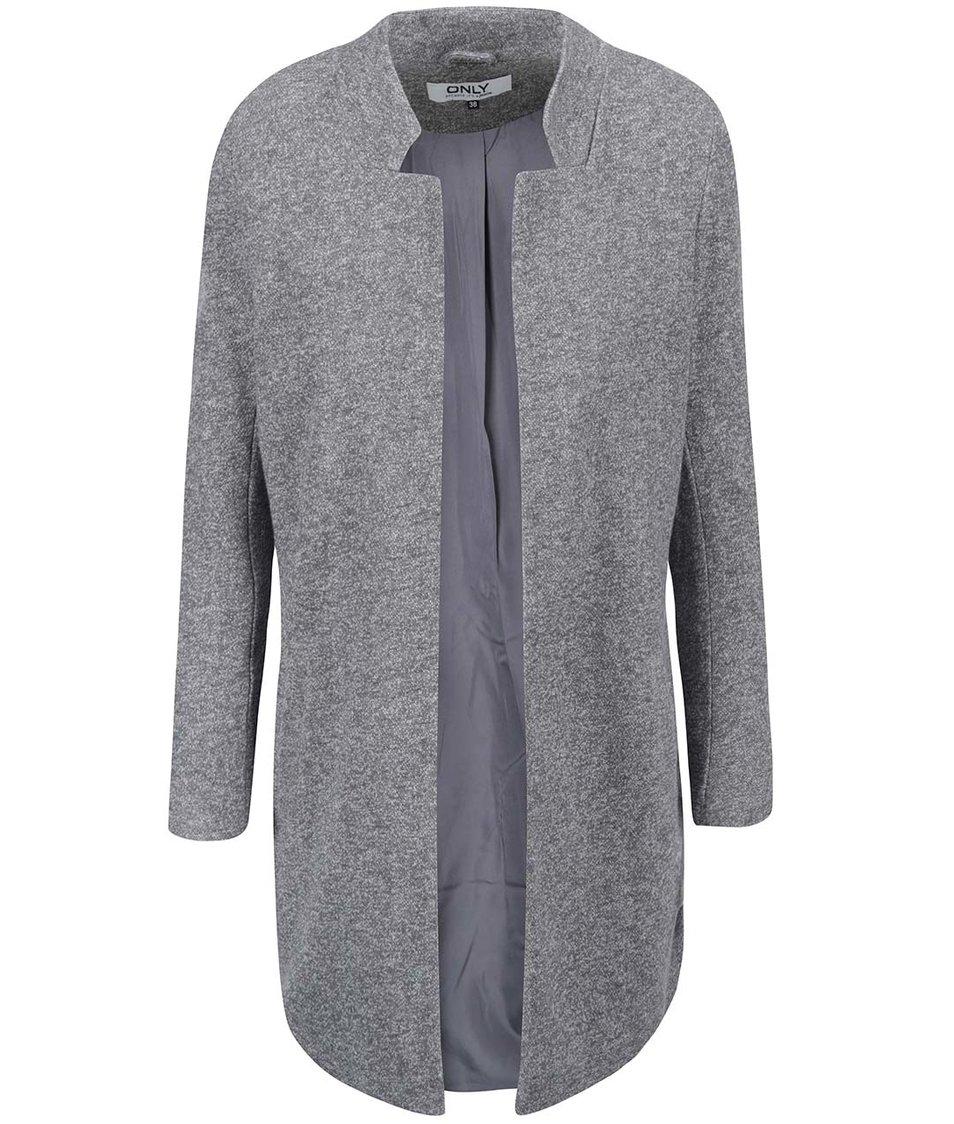 Tmavě šedý lehký kabát ONLY Lika