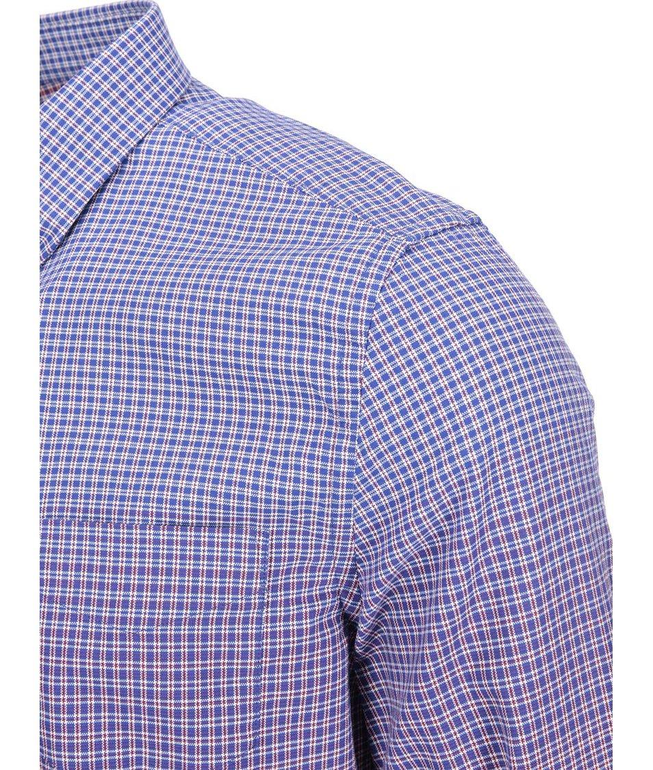 Fialovo-červená kostkovaná košile Ben Sherman