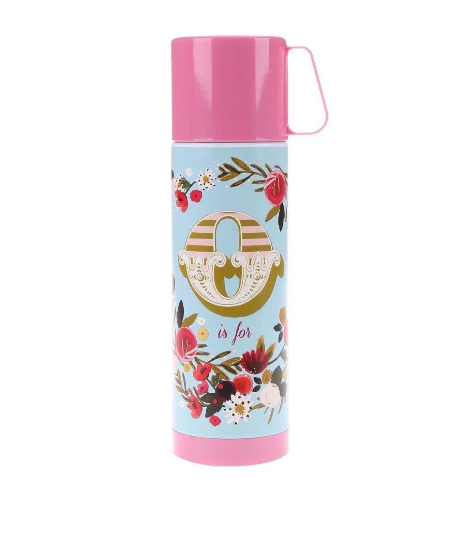 Růžová termoska s potiskem Disaster Ampersand