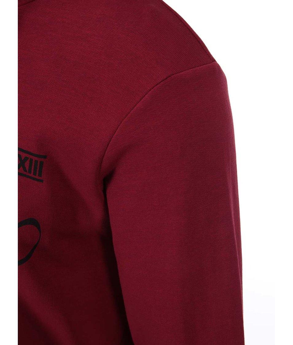 Tmavě červená mikina s kapucí ONLY & SONS August