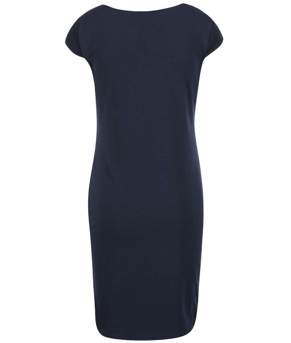 Tmavě modré přiléhavé šaty s třpytivým efektem ONLY Charlot