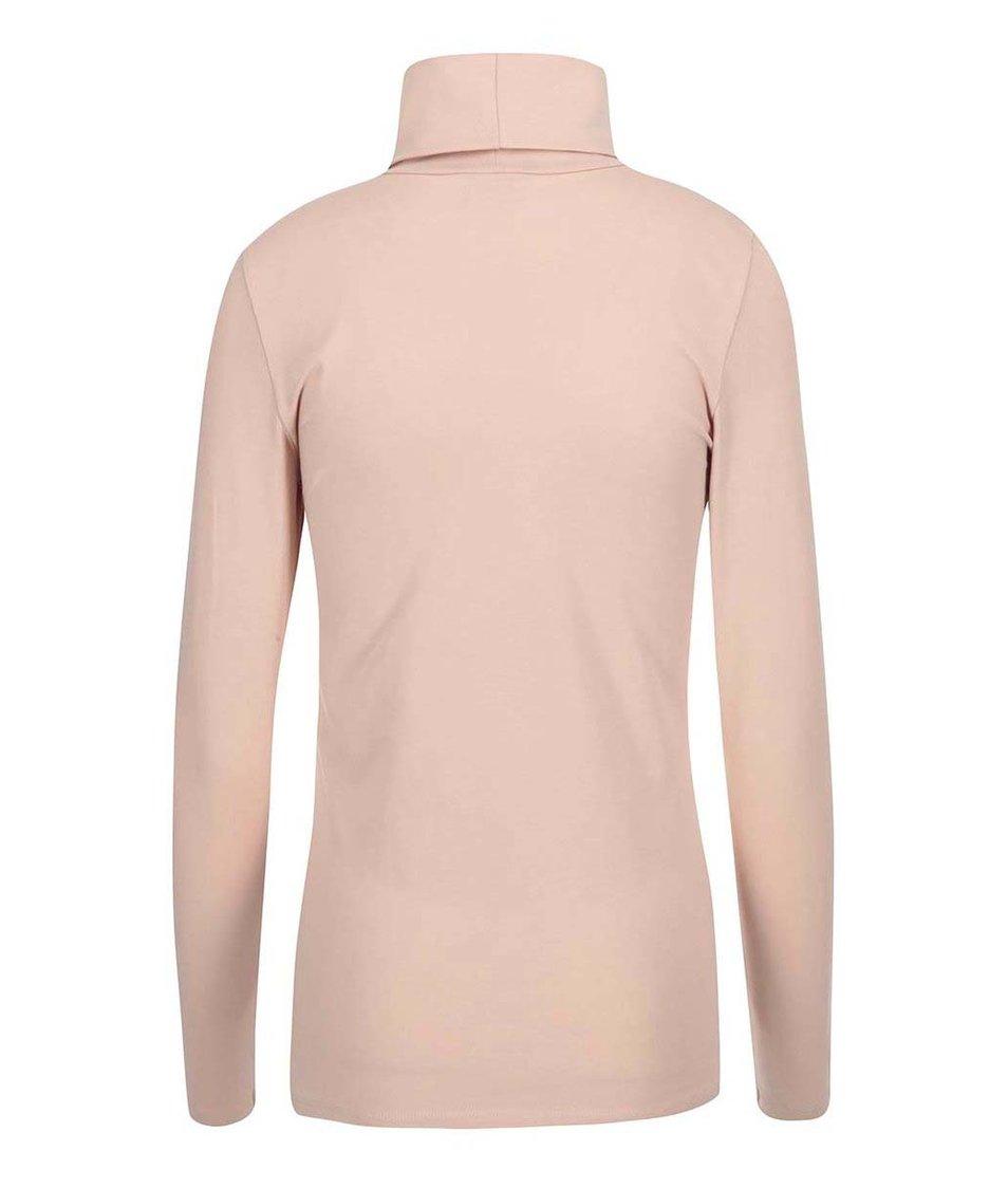 Světle růžový rolák Vero Moda Maxi My