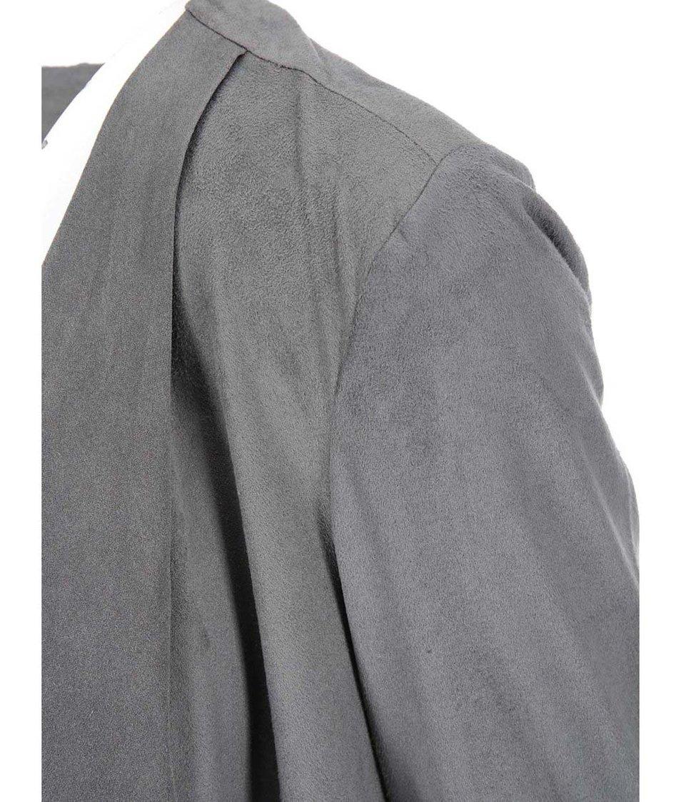 Šedý blejzr s 3/4 rukávy Vero Moda Kerry