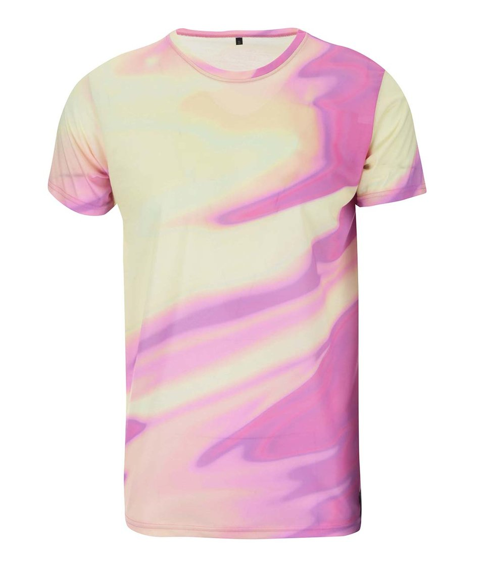 Růžovo-žluté unisex triko Grape
