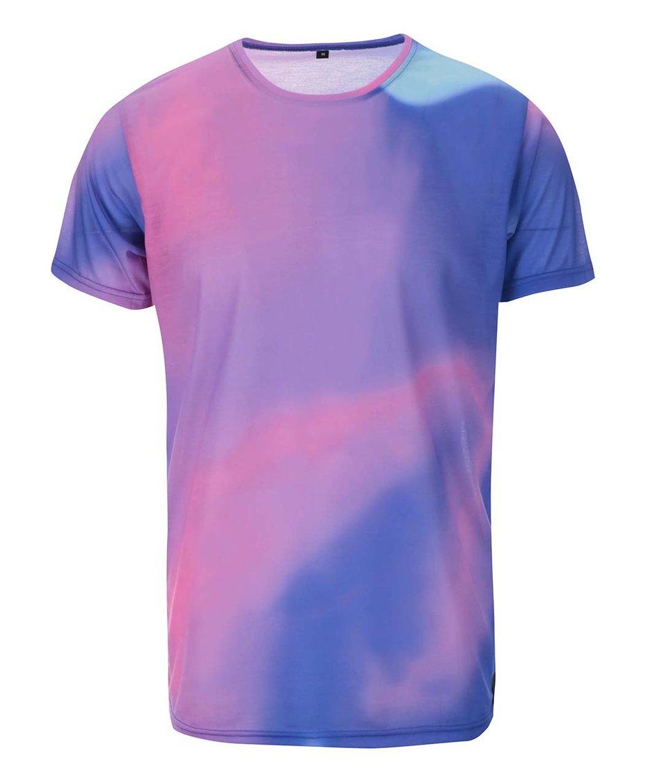 Růžovo-modré unisex triko Grape