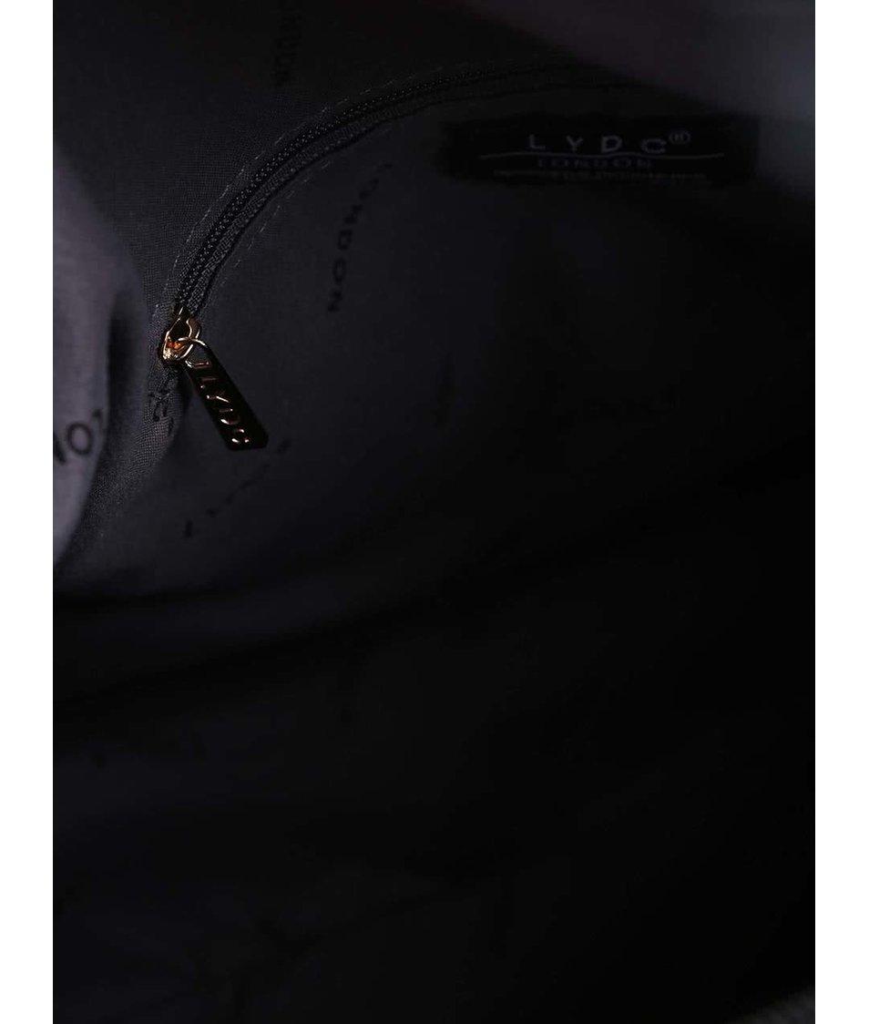 Černá vzorovaná kabelka LYDC
