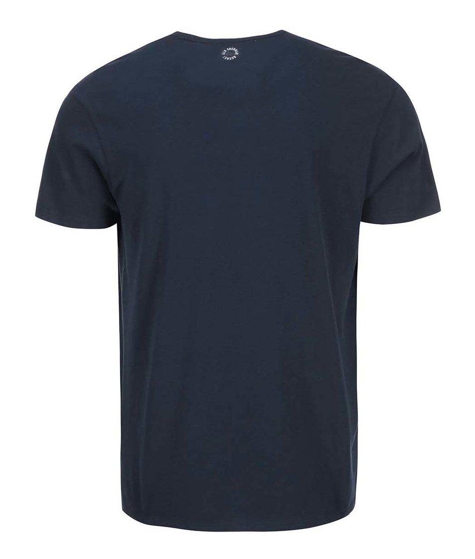 Tmavě modré triko s potiskem Ben Sherman