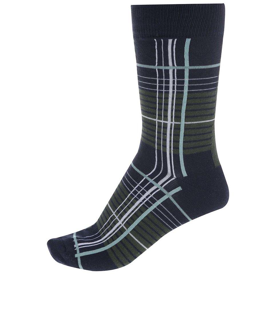 Modro-zelené vzorované ponožky Jack & Jones Mix