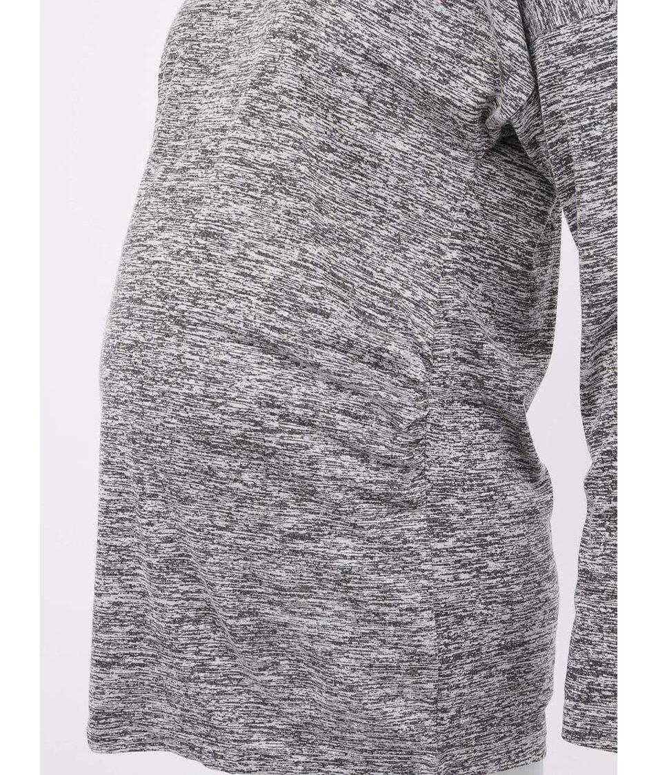 Světle šedé těhotenské tričko s pyramidkami Mama.licious Tara