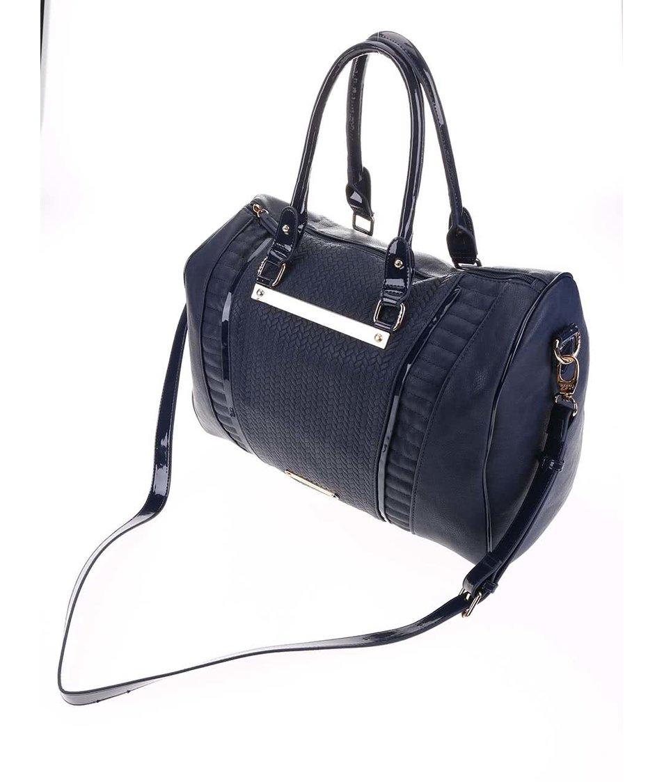 Tmavě modrá kabelka s plastickým vzorováním LYDC