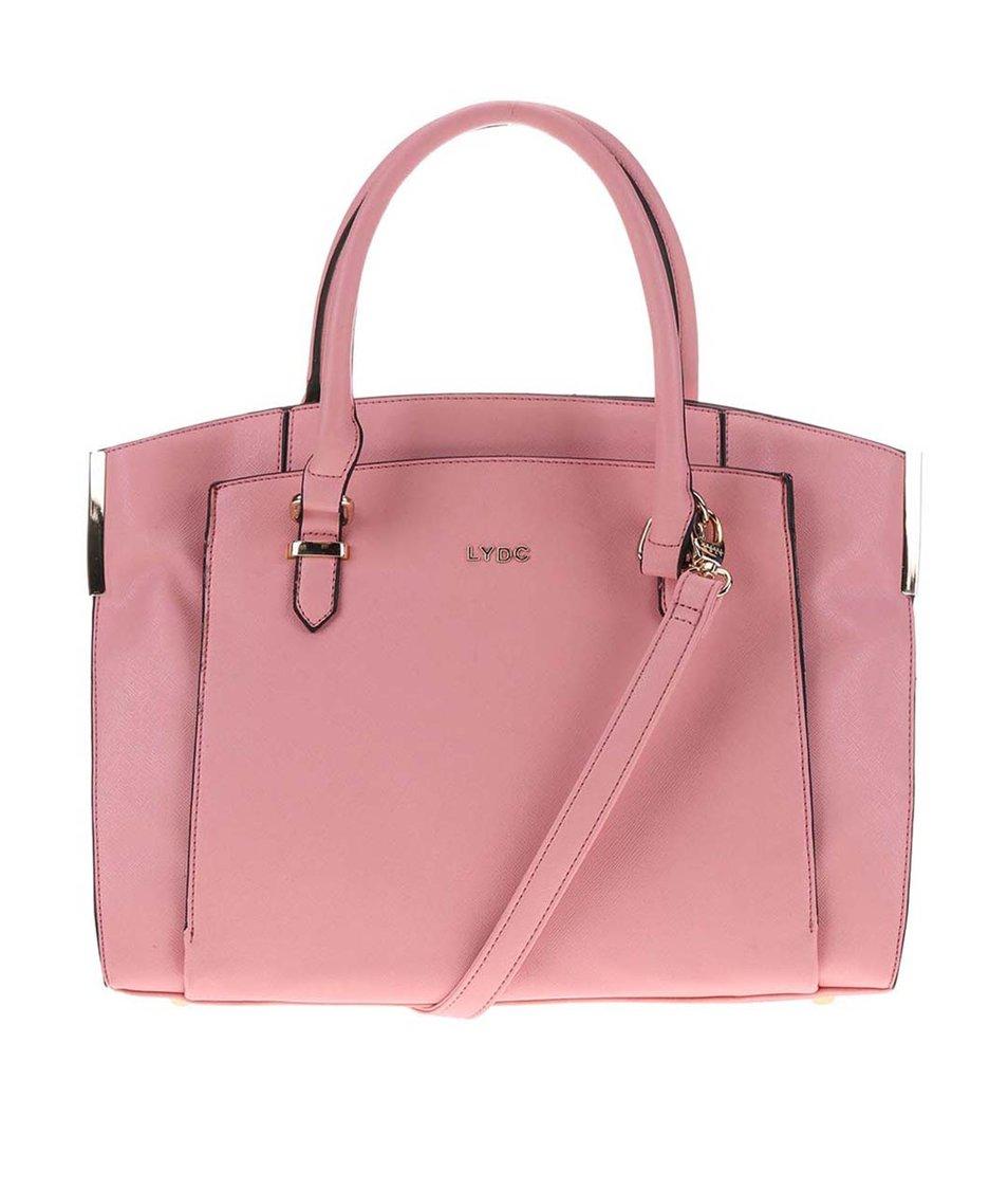 Růžová velká kabelka LYDC