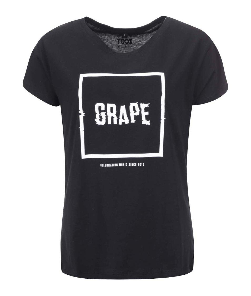 Černé dámské triko s logem Grape