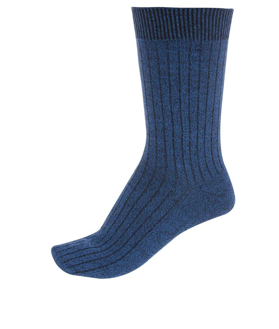 Modré ponožky Jack & Jones Mouline
