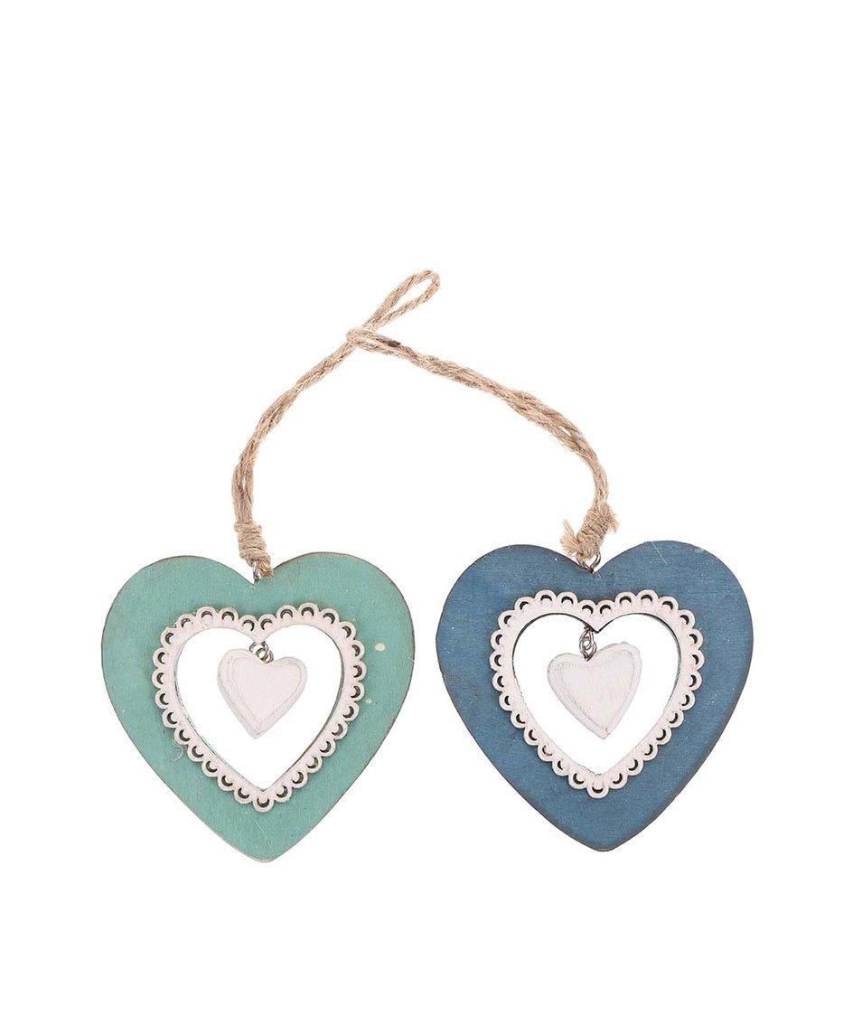 Sada dvou srdcí Sass & Belle