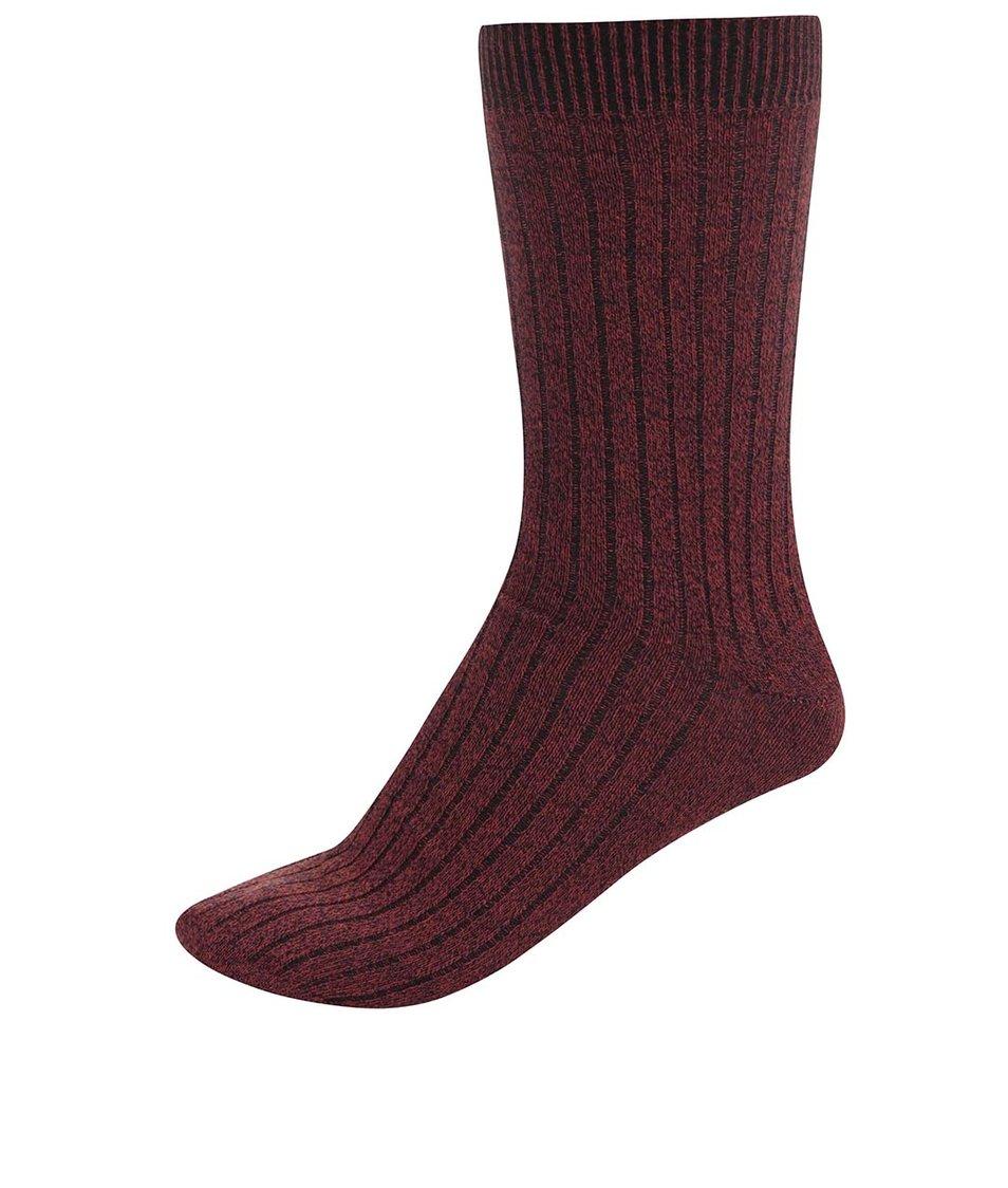 Tmavě oranžové ponožky Jack & Jones Mouline