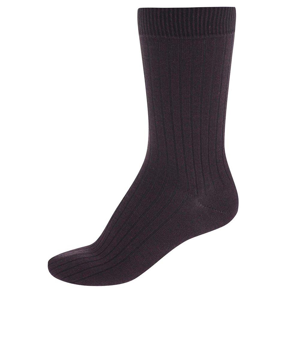 Tmavě vínové ponožky Jack & Jones Mouline