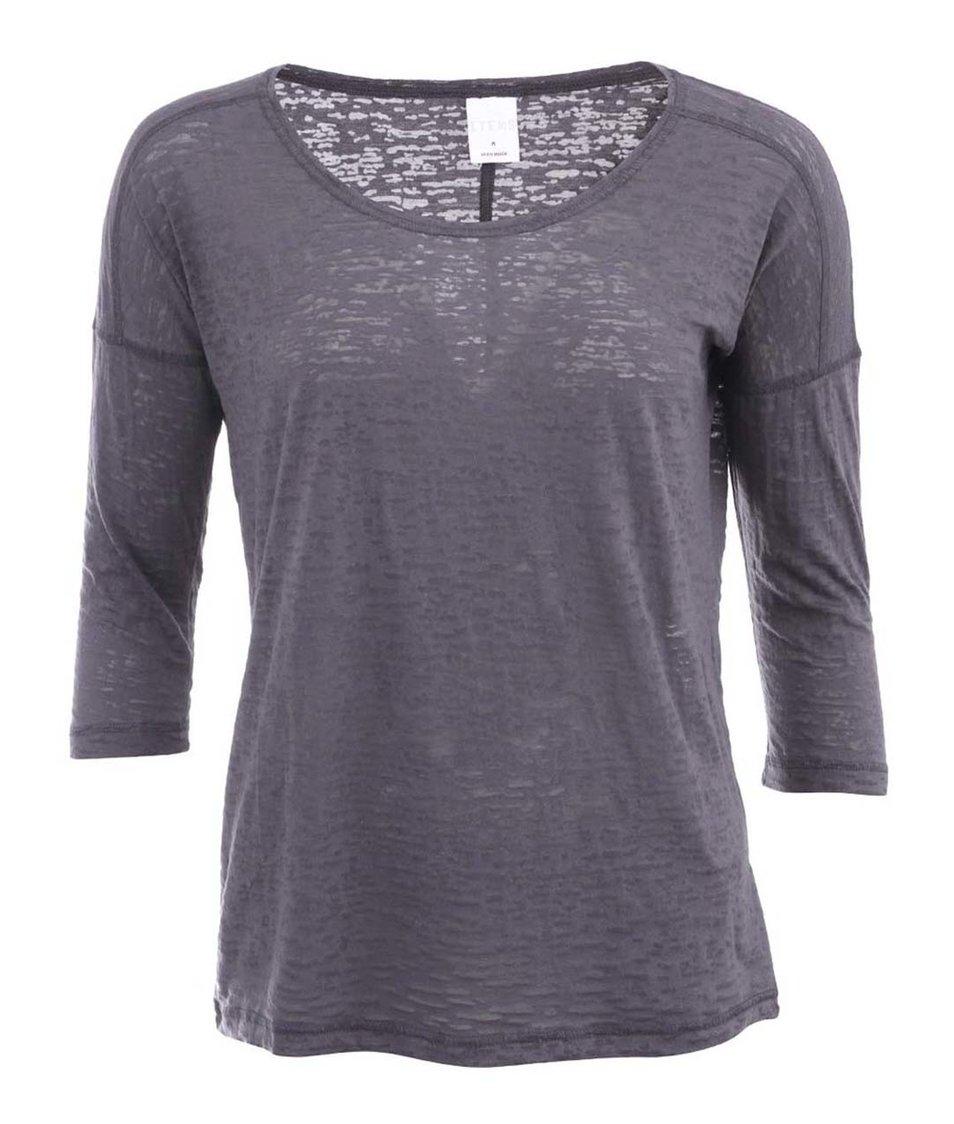 Šedé lehce průsvitné tričko Vero Moda Silent