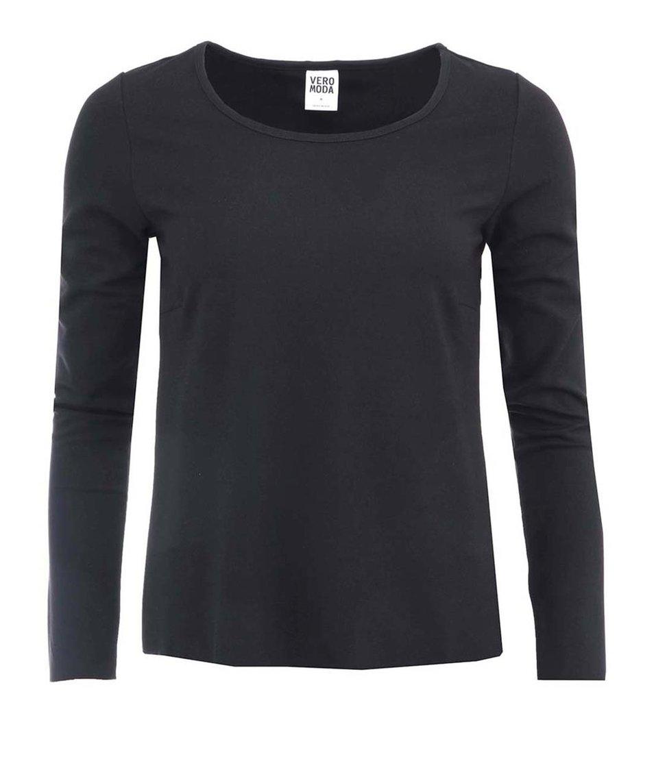 Černý top s průstřihem na zádech Vero Moda Charity