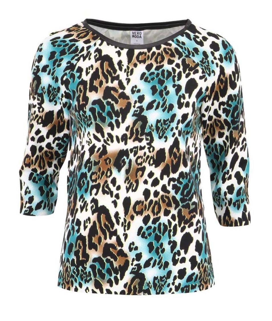 Barevná halenka s leopardím potiskem Vero Moda Medine