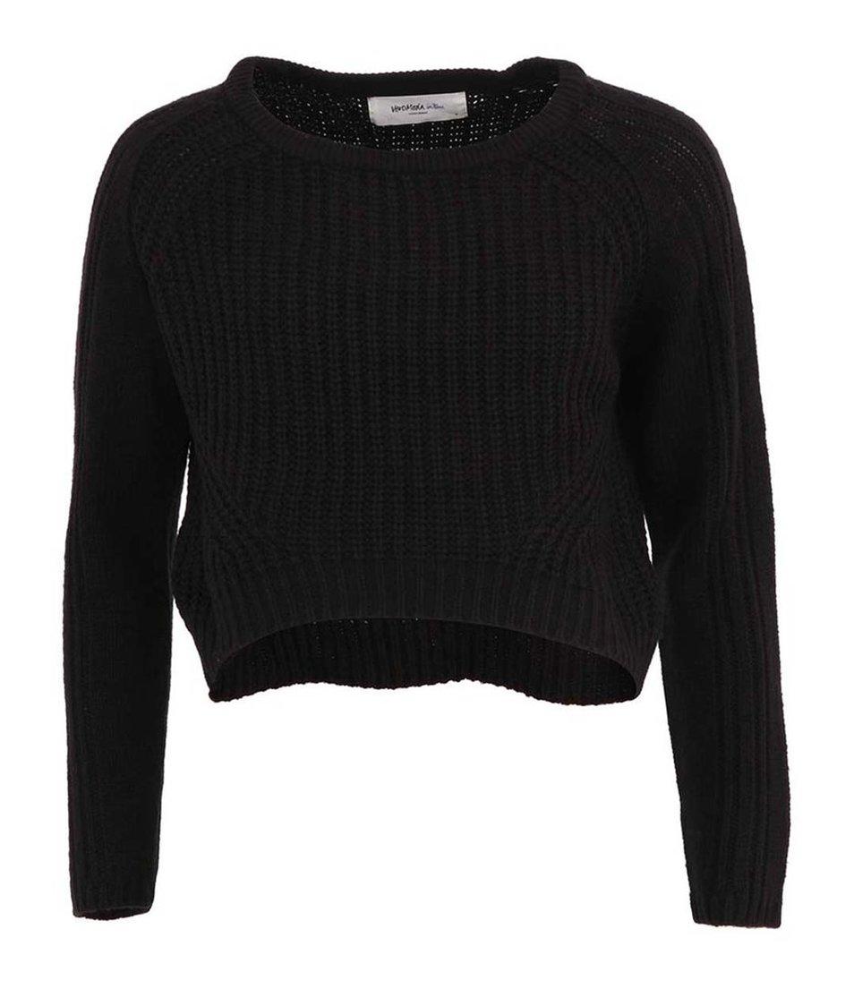 Černý kratší svetr Vero Moda Salma