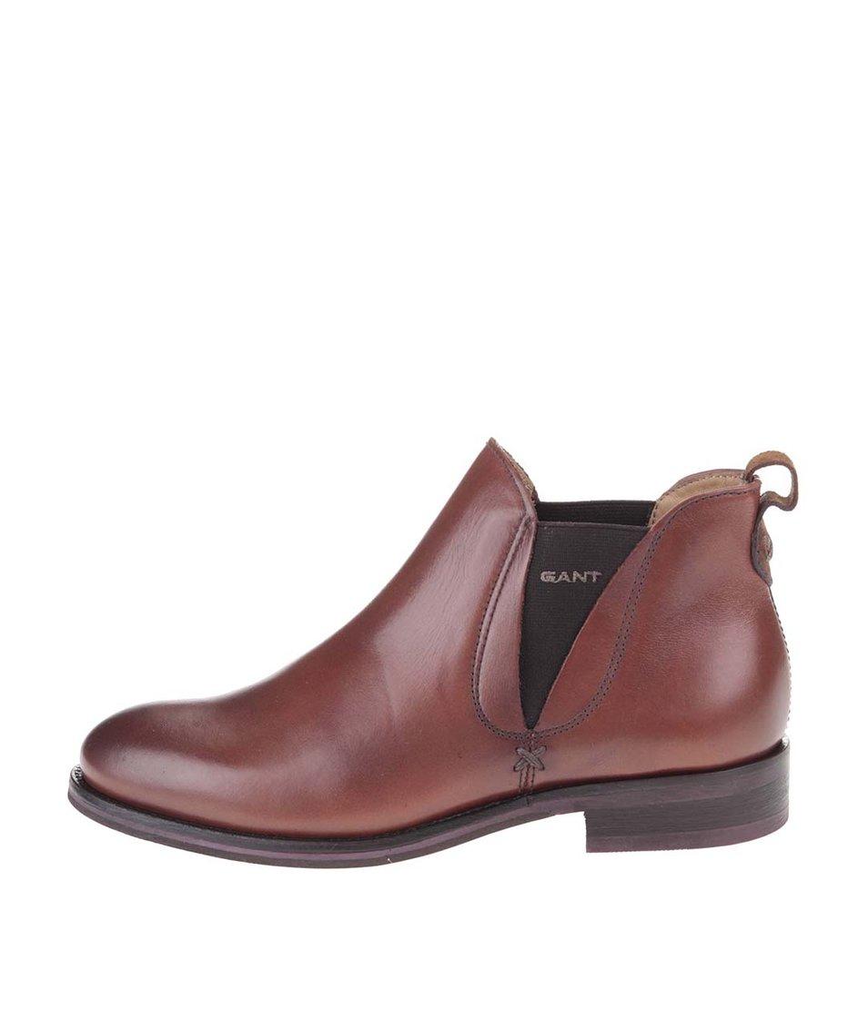 Hnědé dámské kotníkové boty GANT Avery