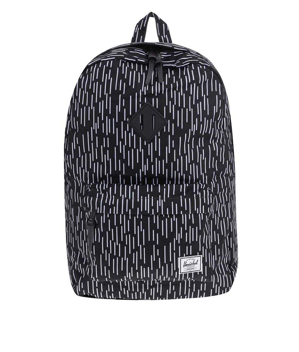 Černý batoh s bílým vzorem Herschel Heritage