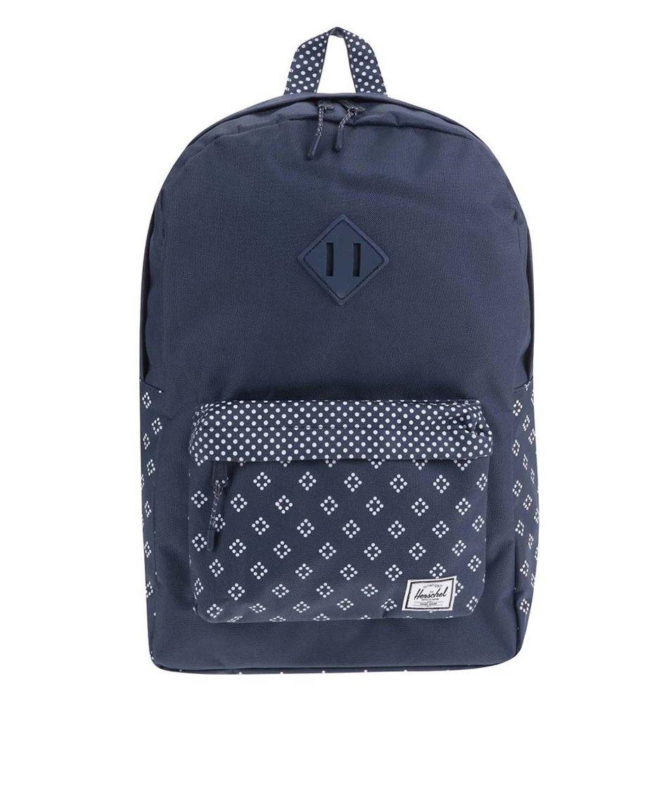 Tmavě modrý batoh s bílým vzorem Herschel Heritage