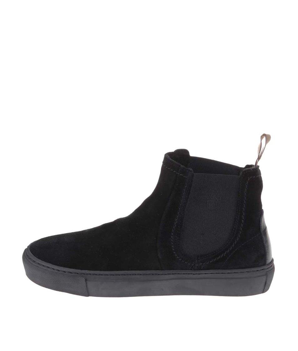 Černé dámské kotníkové boty GANT Olivia