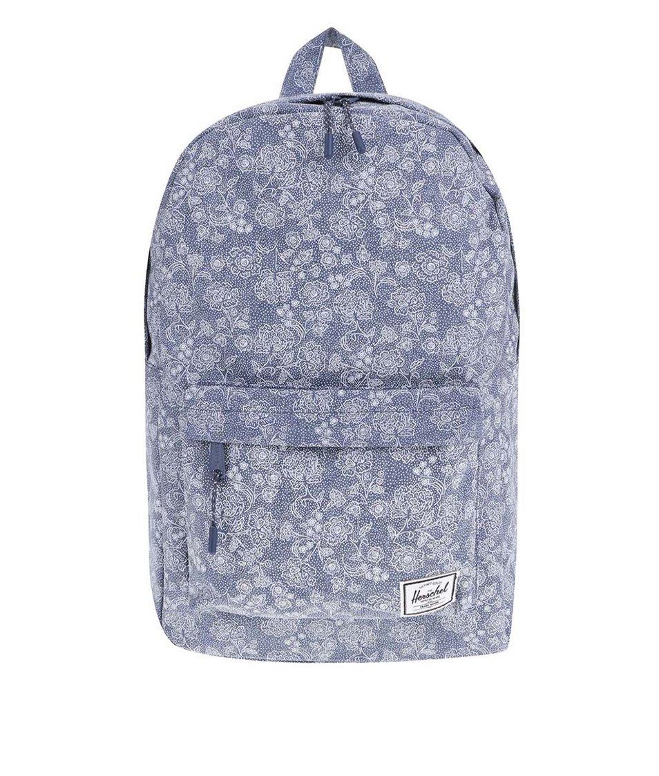 Modrý květovaný batoh Herschel Classic Mid-Volume