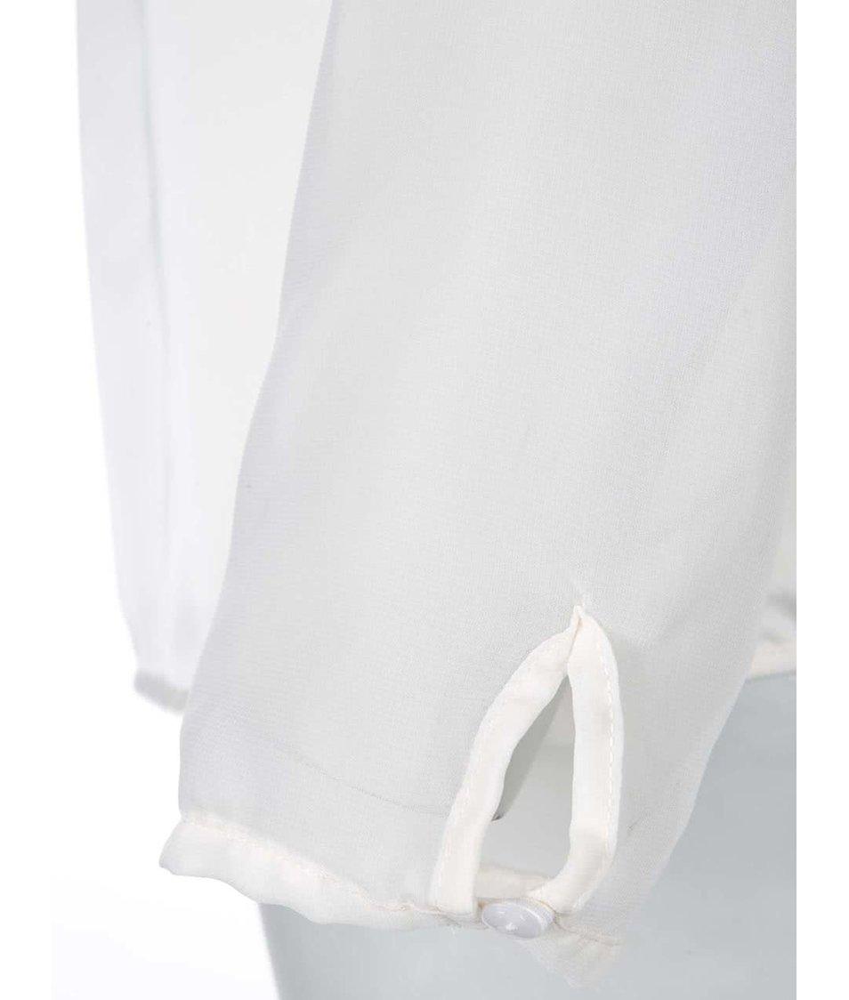 Krémový volnější top Zabaione Silia