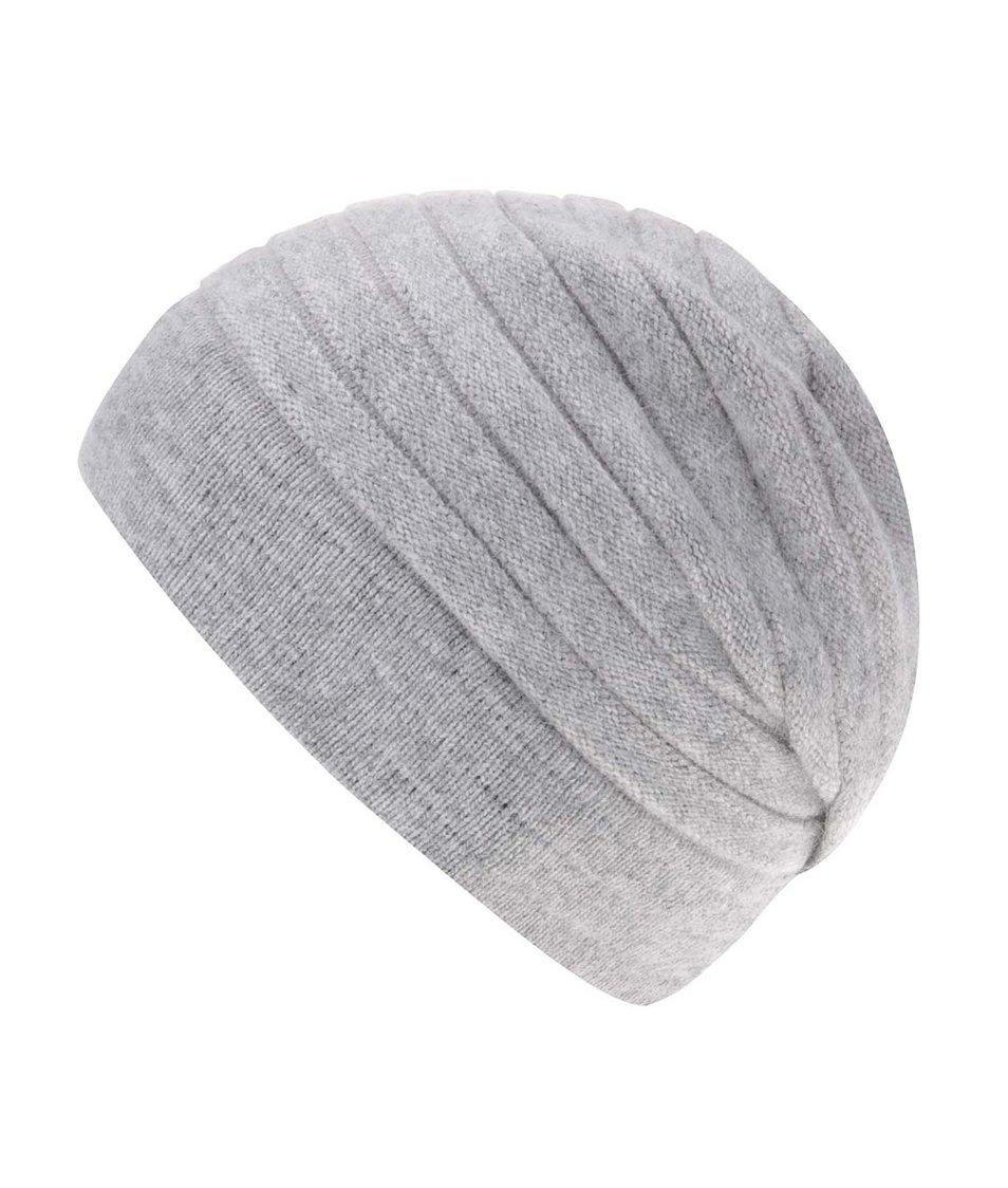 Šedá vzorovaná čepice s kašmírem INVUU London