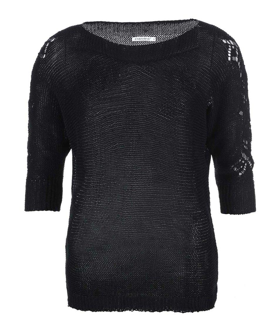 Černý volnější svetr Zabaione Sigrid