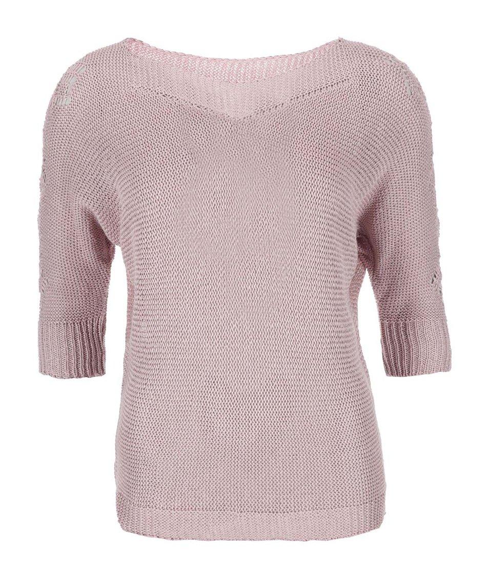 Růžový volnější svetr Zabaione Sigrid