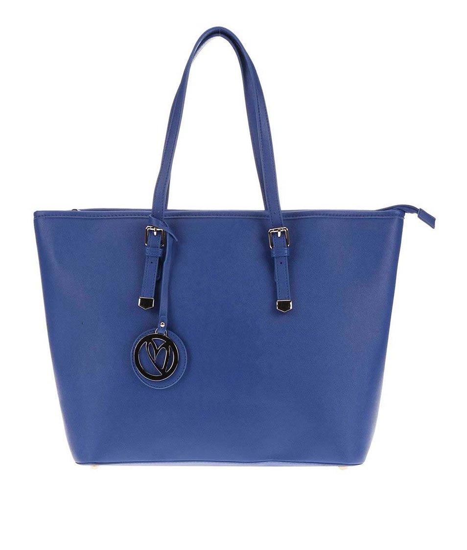 Tmavě modrý shopper s přívěskem Anna Smith