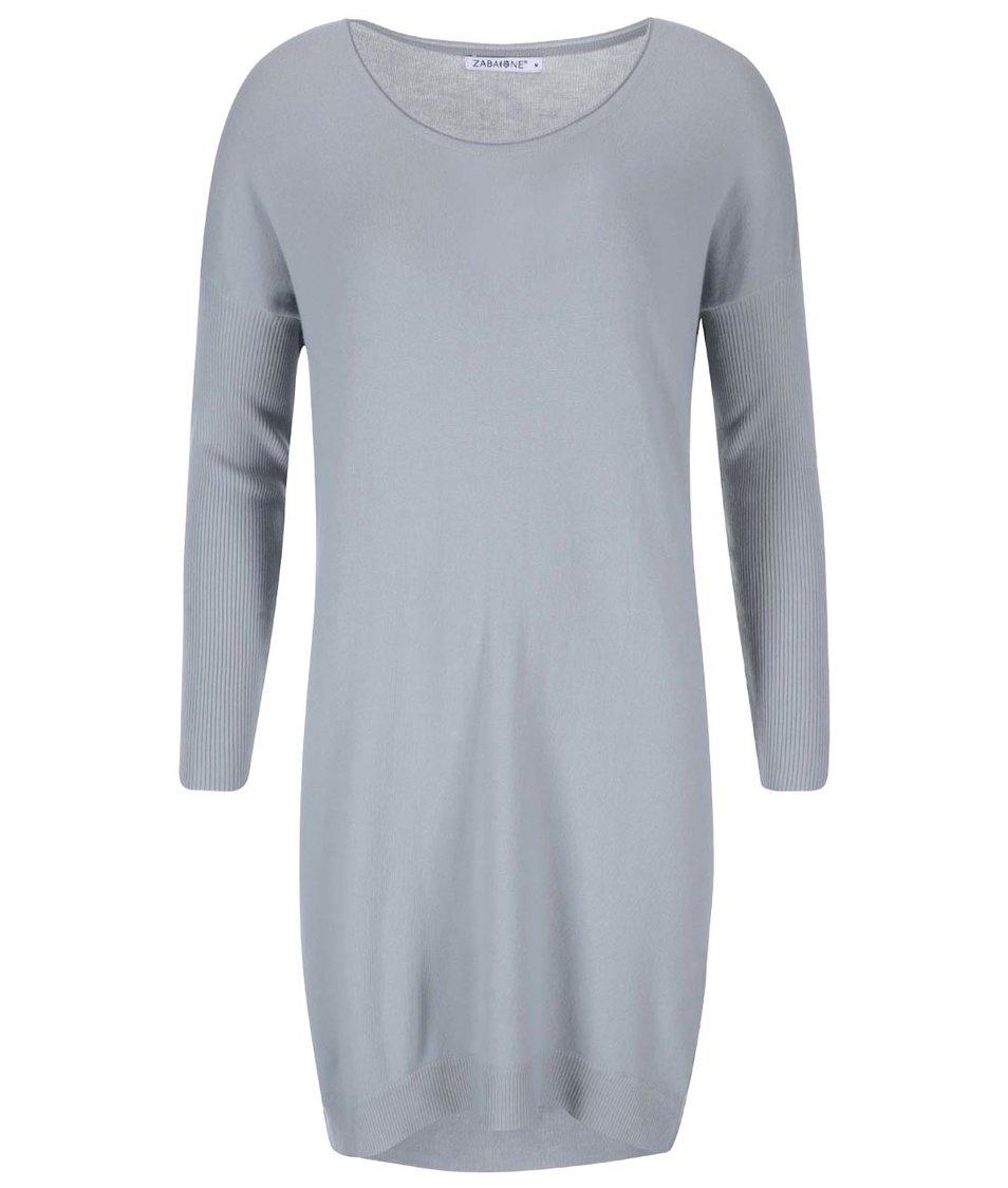 Šedé svetrové šaty Zabaione Fijona
