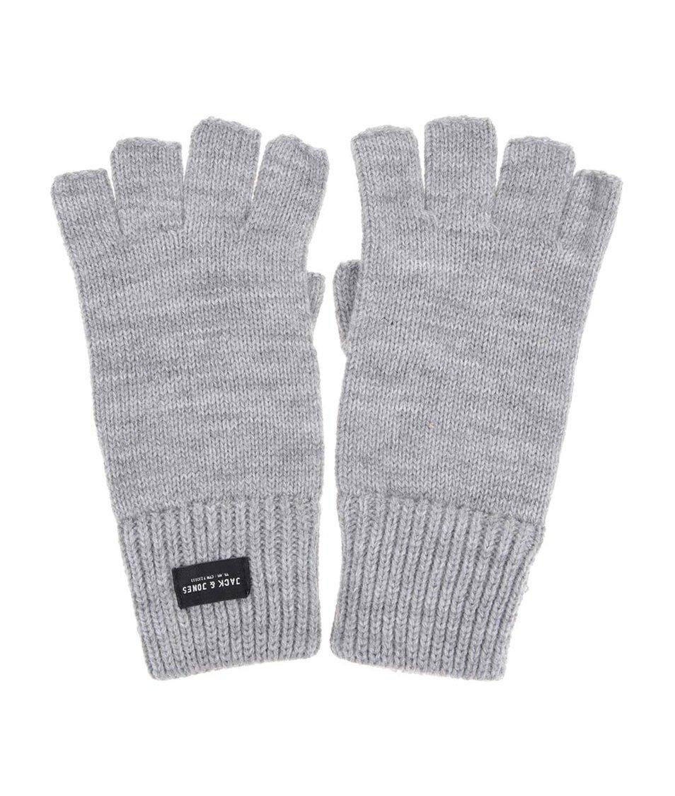 Šedé rukavice bez prstů Jack & Jones Thumbs Up