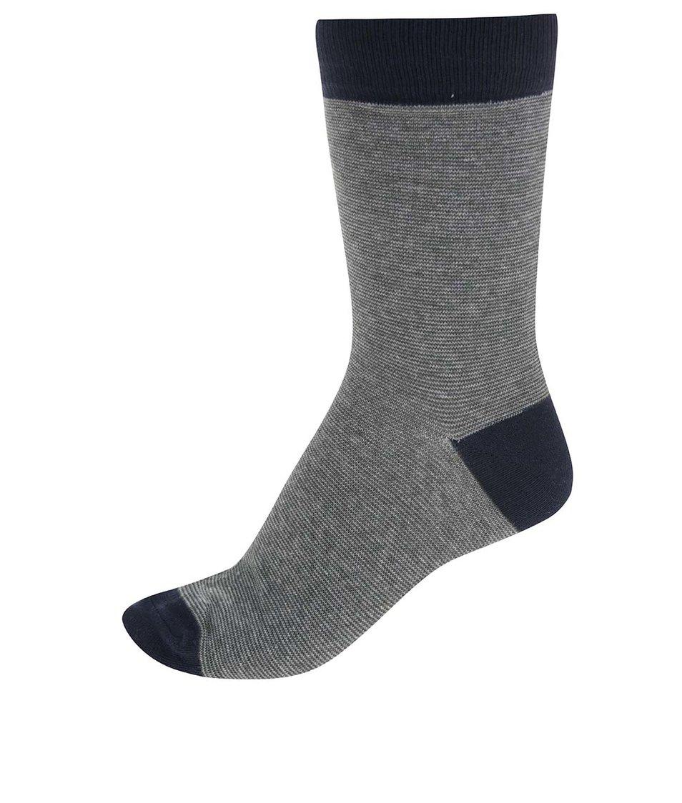 Modro-zelené ponožky s pruhy Jack & Jones Mix