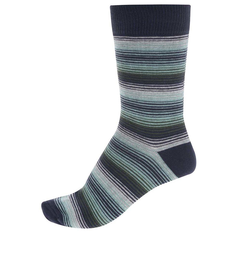 Modro-zelené pruhované ponožky Jack & Jones Multi