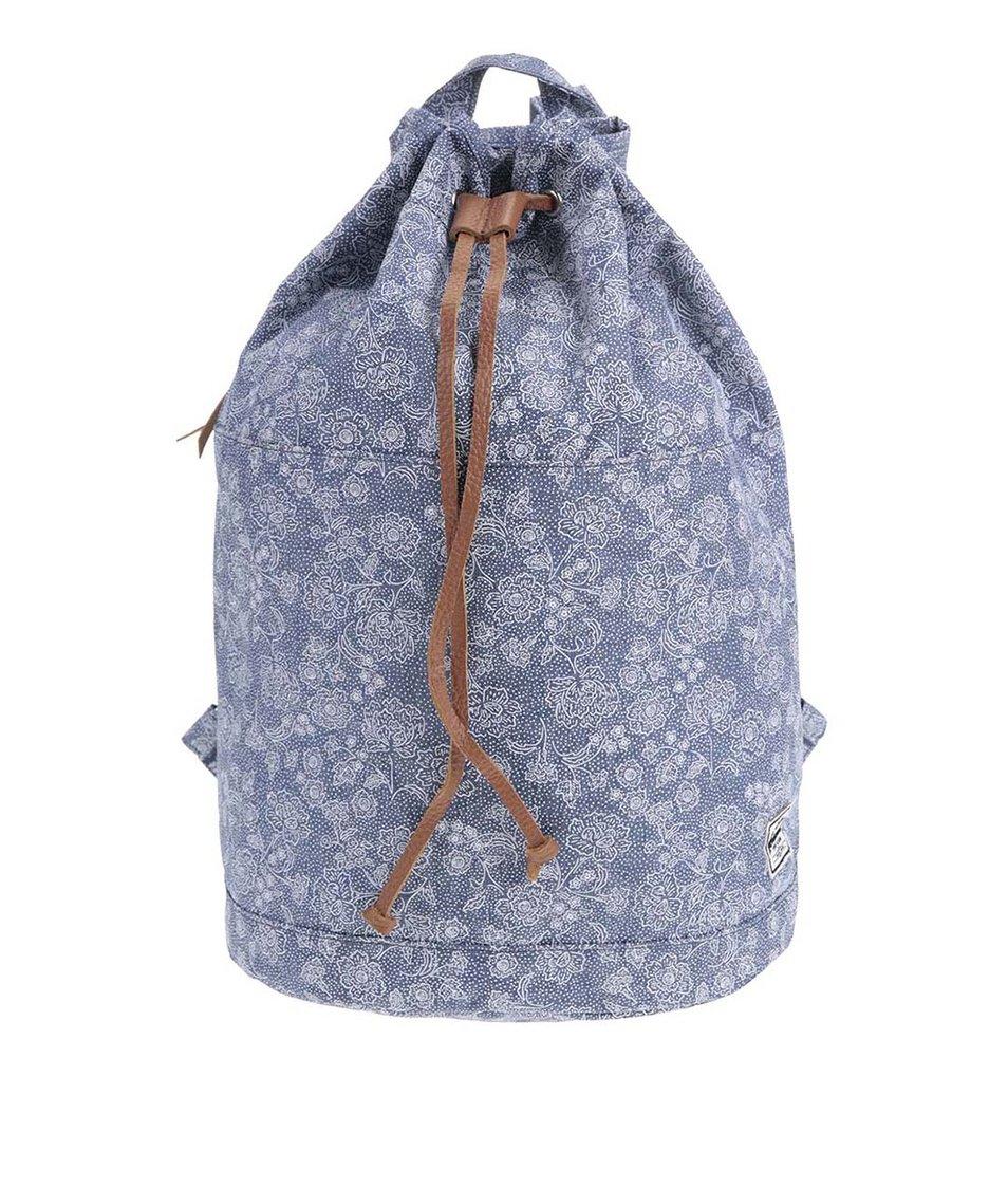 Modrý dámský květovaný vak Herschel Hanson