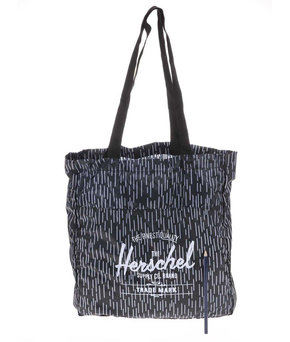 Černá taška s bílým vzorem Herschel Packable Travel Tote