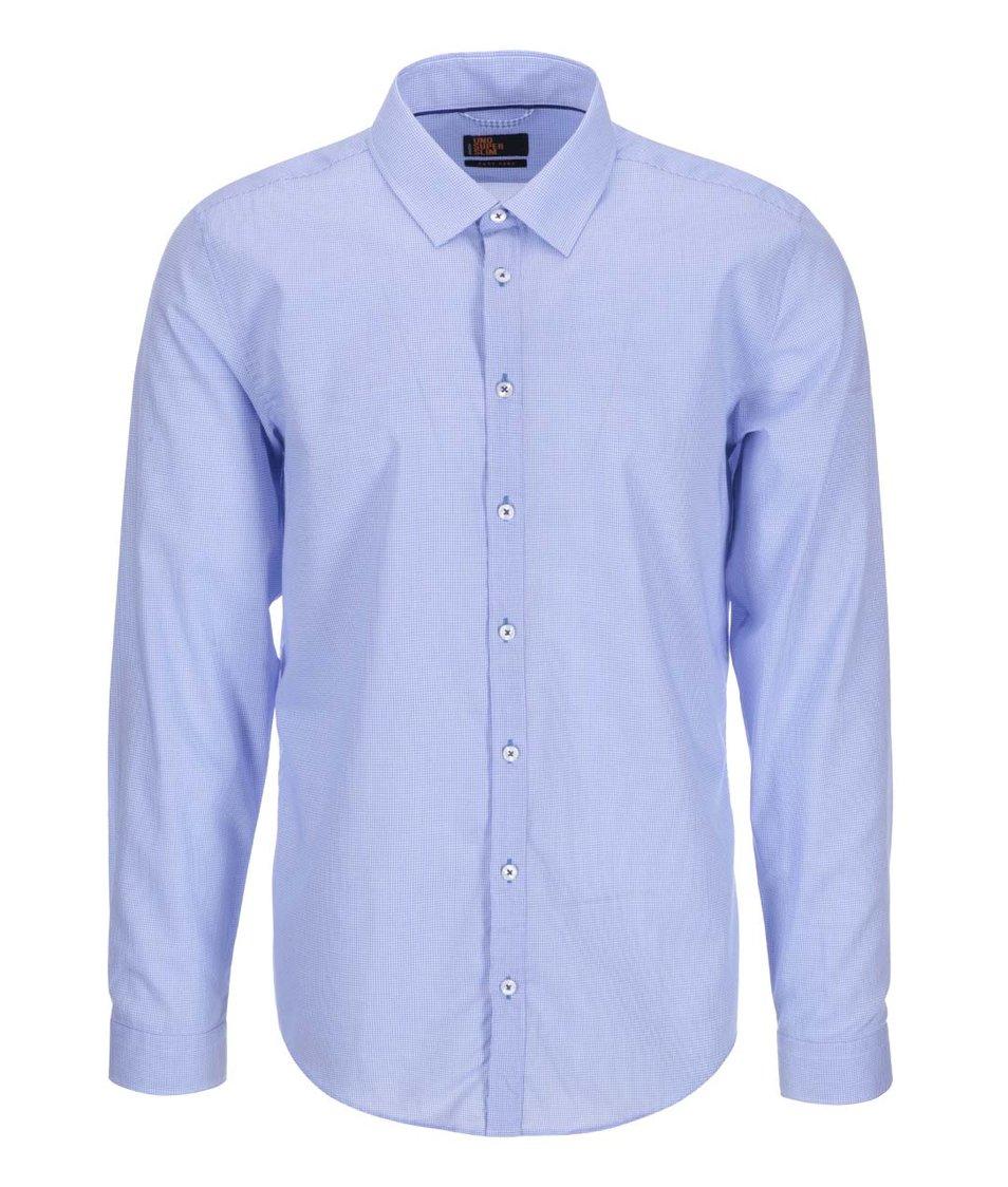 Bílo-modrá košile se vzorem Seidensticker Kent Piping 98